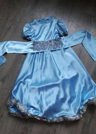 Платье атласное для девочки на утренник