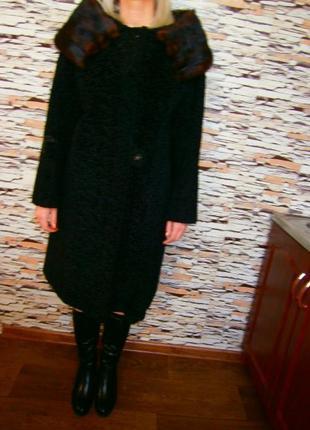 Шуба из натурального каракуля + натуральная норка astra furs paris