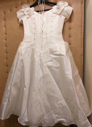 Платье бальное на девочку выпускное айвори
