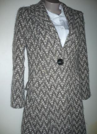 Пальто пиджак, юбка клеш, шерсть