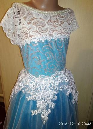 Платье снежинки с коротким рукавом