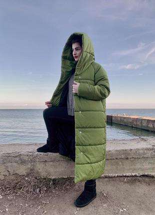 Пальто одеяло зима очень тёплое влагооталкивающая плотная плащевка новое