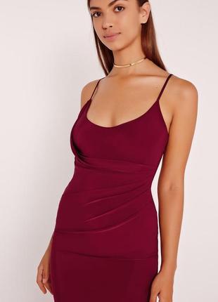 Миди платье цвета марсала от missguided