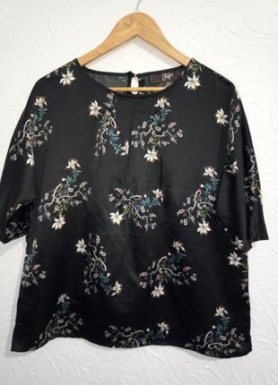 Блуза топ атласный пог 58