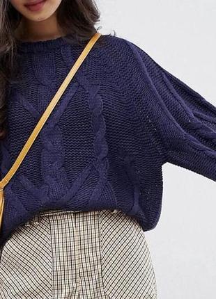 Джемпер крупной вязки