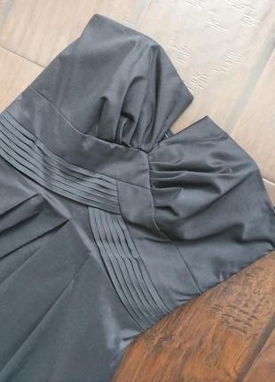 Платье коктельное черное, р.44 на подкладке.