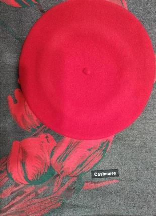 Комплект двухсторонний зимний шарф-палантин тюльпаны и берет tonak чехия