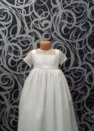 Белое пышное платье снежинка,6-7л,bhs,,нарядное1