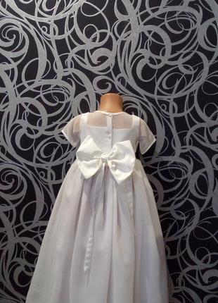 Белое пышное платье снежинка,6-7л,bhs,,нарядное2