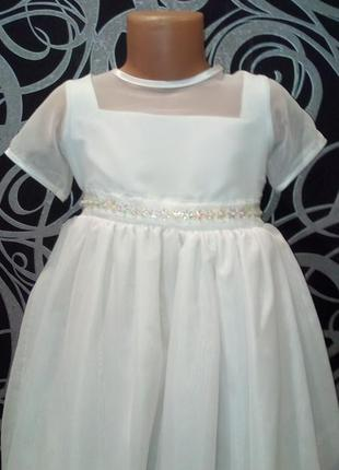 Белое пышное платье снежинка,6-7л,bhs,,нарядное3