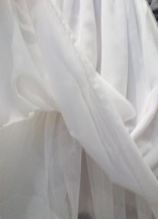 Белое пышное платье снежинка,6-7л,bhs,,нарядное5