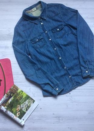 Джинсовая рубашка f&f