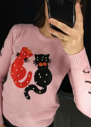 Кофточка с котиками! sale!!!