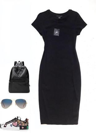 Базовое чёрное платье  миди от atmosphere
