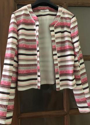 Жакет, пиджак, стильный жакет, в полоску