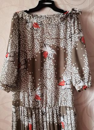 Платье с плиссе, винтаж, ретро, платье в стиле гэтсби, новый год, заниженная талия