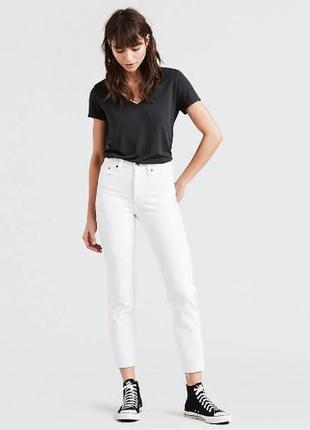 Новые белые джинсы левайс levis wedgie fit jeans