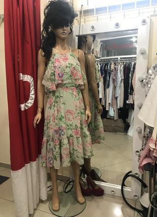 Ліквідація товару до 29 грудня 2018 !!! ніжна повітряна сукня в квіти asos