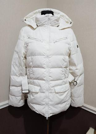 Белая куртка пуховик timberland