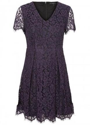 Кружевное платье с короткими рукавами vero moda