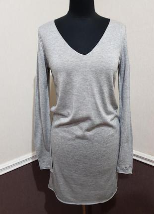 Серое кашемировое платье zadig & voltaire