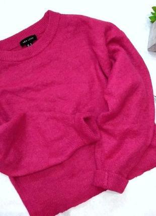 Объемный оверсайз свитер, шерсть альпака, объемные рукава