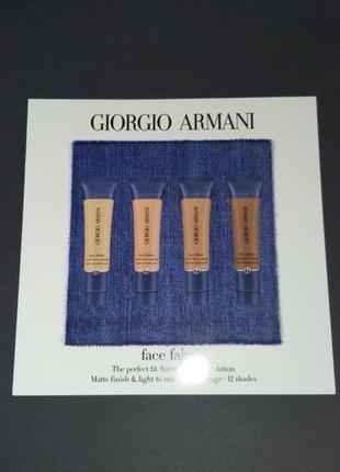 Палетка пробников тонального мусс giorgio armani face fabric