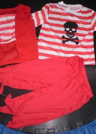 Карнавальный новогодний костюм пирата 3-4 г. 104 см