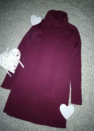 Свитер гольф платье  мягкий теплый  разрезы по бокам  р. 46-48 от f&f
