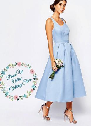 Нежное голубое платье от chi chi london