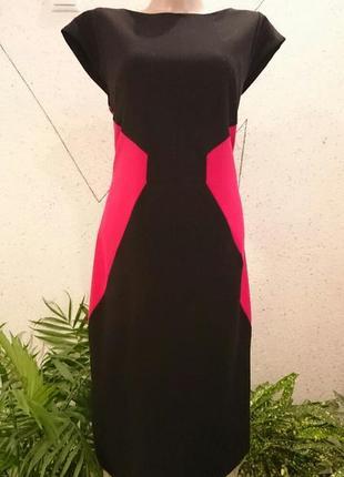 Теплое умное платье футляр 12-14