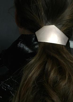Заколка для волос минимализм розовое золото в стиле cos оригинальный дизайн новая