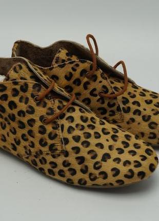 Леопардовые ботинки (стриженый мех пони), италия maruti
