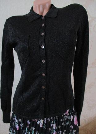 Рубашка/блуза/кофта/джемпер с люрессом/71% вискоза/s-m