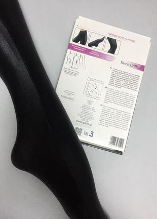 Женские ультраэластичные глянцевые колготы/лосины gatta black brillant2 фото