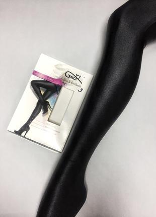 Женские ультраэластичные глянцевые колготы/лосины gatta black brillant