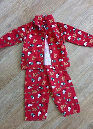 Новогодняя фланелевая/байковая пижама, костюм, рождество