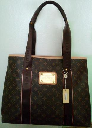 Новая сумка шоппер с длинними ручками в стиле louis vuitton луи виттон
