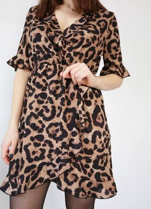Платье на запах в леопардовый принт 🐅 shein