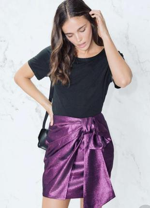 Очень красивая нарядная юбка мини с метализированной нитью & other stories1