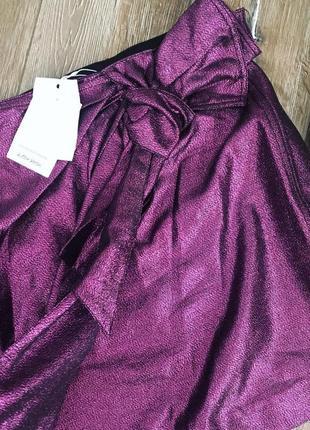 Очень красивая нарядная юбка мини с метализированной нитью & other stories4