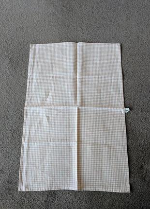 Кухонное полотенце в клеточку