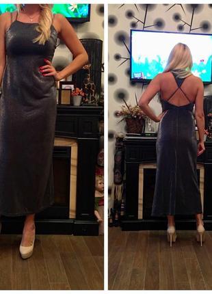 Продам нарядеое люрексовое платье