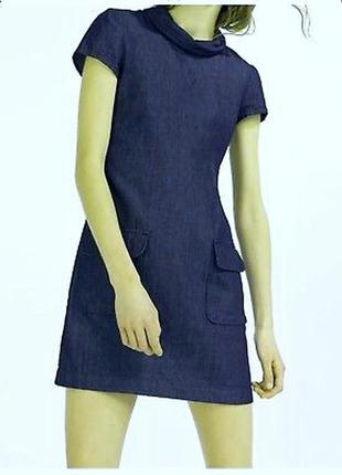 Модное джинсовое платье свободного кроя