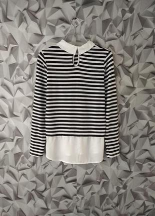 Свитер кофта свитшот с эффектом рубашки обманка рубашка