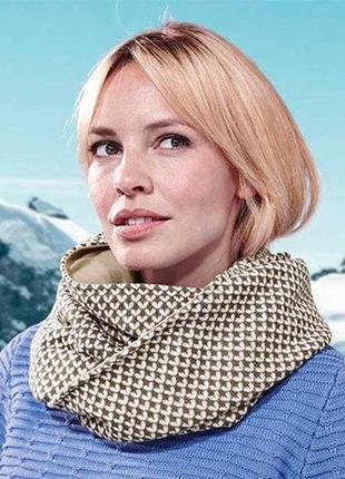 Стильный двухсторонний снуд- шарф от тсм tchibo (чибо), германия, размер 37 см x71 см