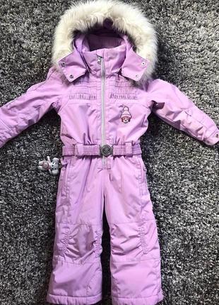 Нереальный горнолыжный детский комбинезон 2года/92 poivre blanc purple , франция, оригинал