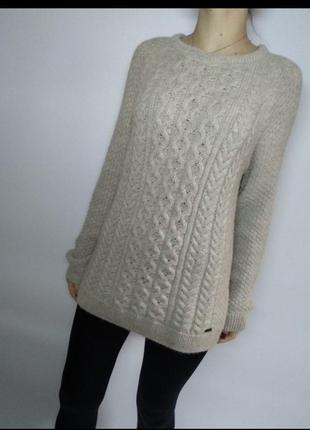Шерстяной теплый свитер английского бренда