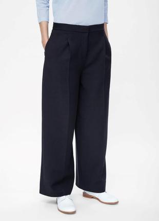 Хит 2018 стильные брюки палаццо cos темно-синие, 38 eur, m-l