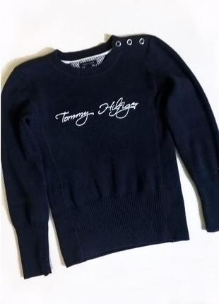 Шикарный синий свитер tommy hilfiger.